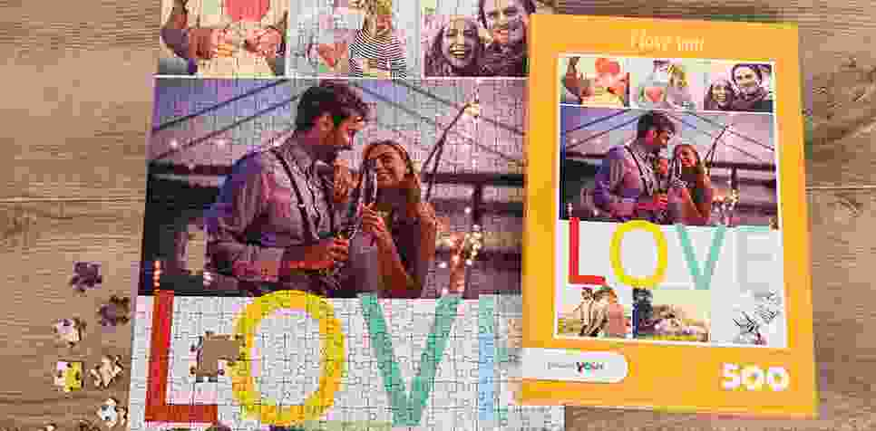 Photo Puzzle with Message collage