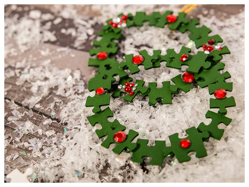 DIY Christmas decoration puzzle Advent wreath