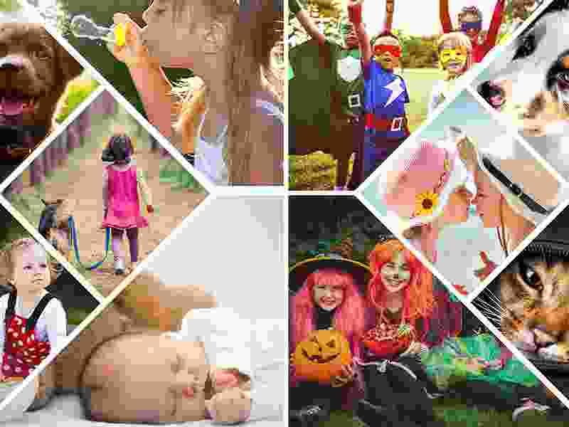 Puzzle Photo pêle-mêle avec Grille artistique 10 Photos