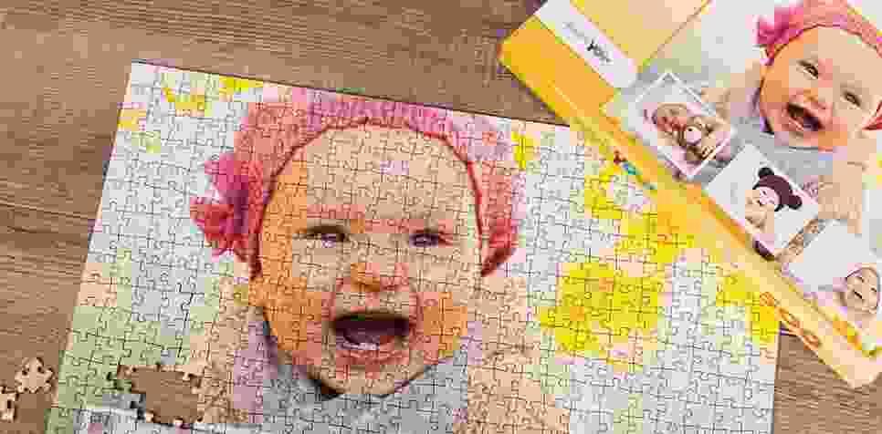 Puzzle Photo pêle-mêle avec Arrière-plan personnel