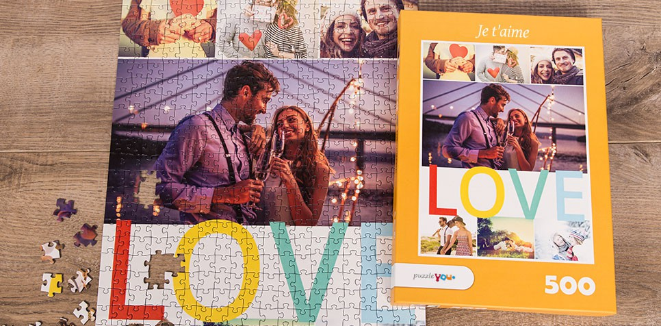 Puzzle Photo pêle-mêle avec Message