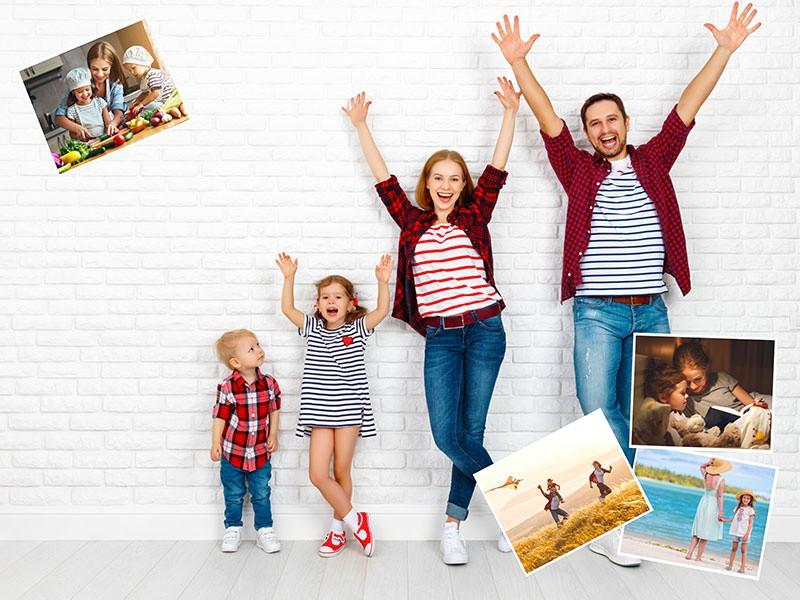 Puzzle Photo pêle-mêle avec Arrière-plan personnel 5 Photos