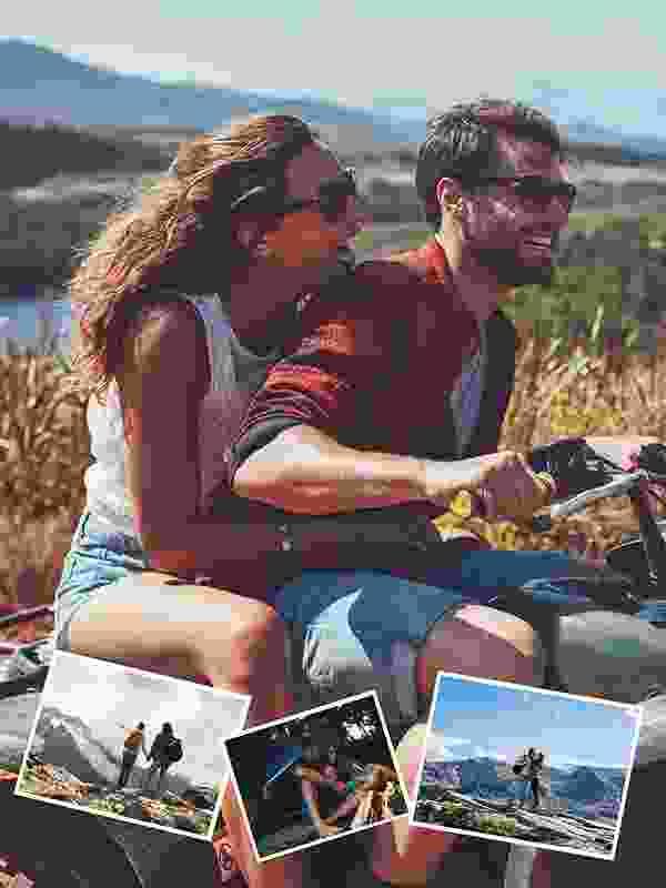 Puzzle Photo pêle-mêle avec Arrière-plan personnel 4 Photos