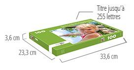 Dimensions de la boîte du puzzle - Puzzle photo 100 pièces