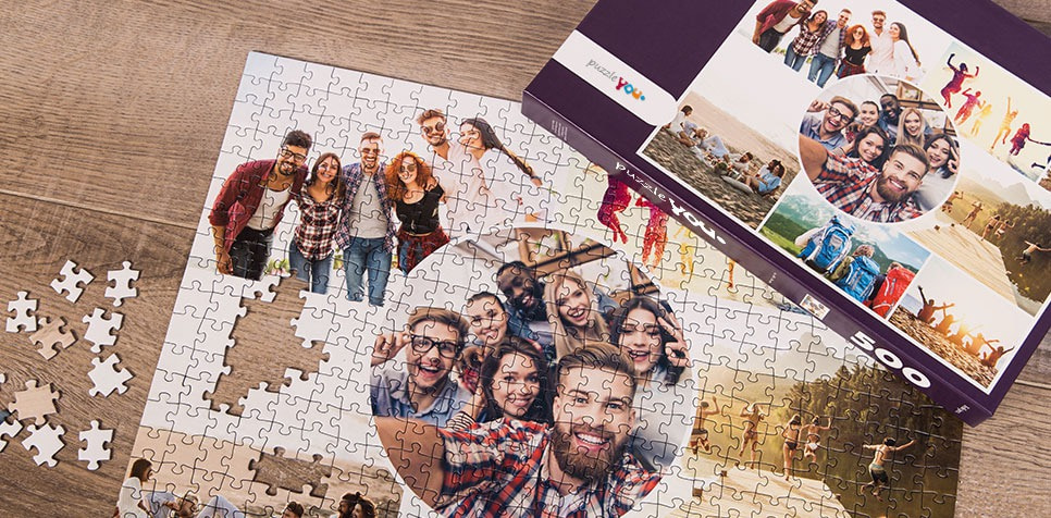 Teaser: Photo Puzzle with Artistic grid collage