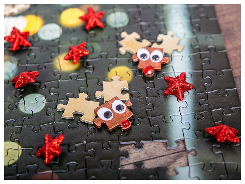 DIY Christmas decoration puzzle reindeer