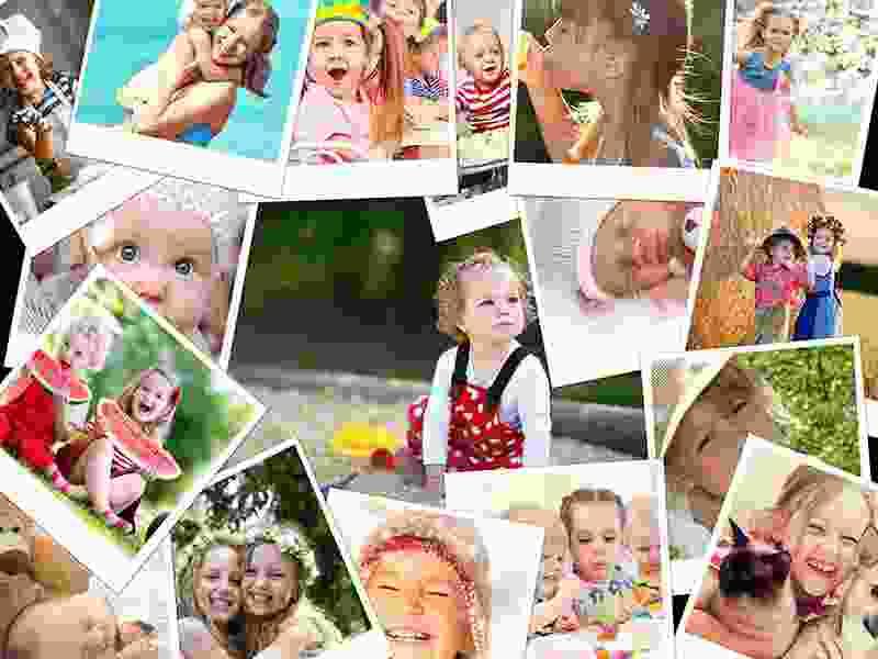 Puzzle Photo pêle-mêle avec Chevauchement 17 Photos