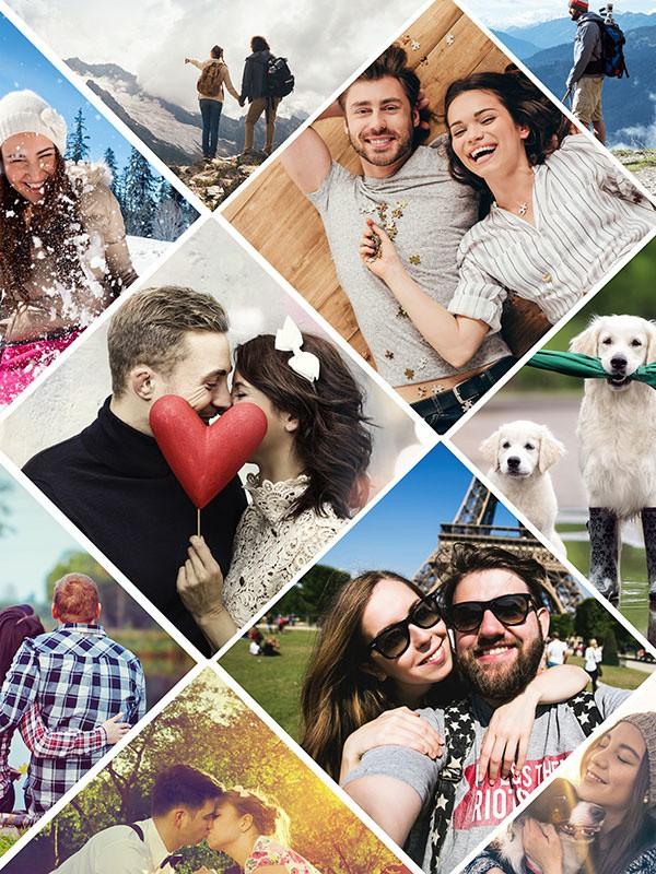 Puzzle Photo pêle-mêle avec Grille artistique 11 Photos