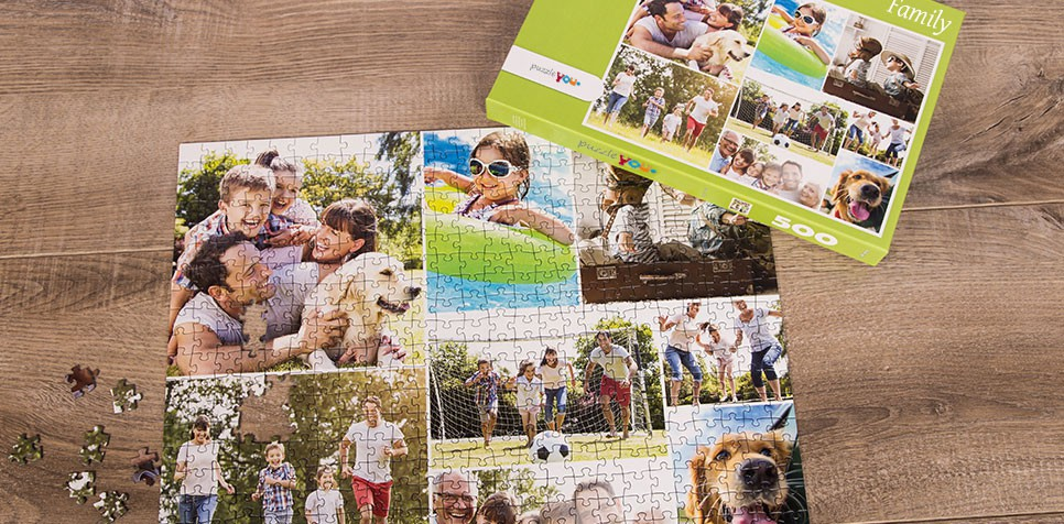 Teaser: Photo Puzzle with Simple grid collage