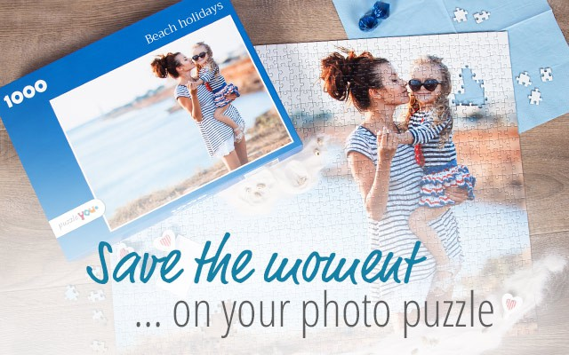Create your personal photo puzzle with puzzleyou.com