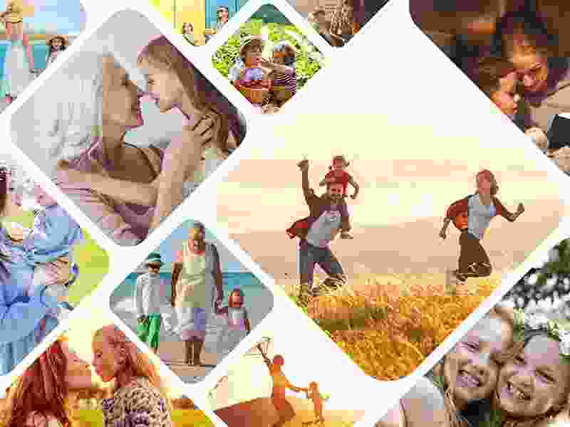 Puzzle Photo pêle-mêle avec Grille artistique 12 Photos